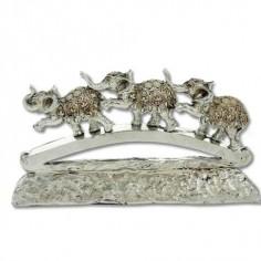 Figura elefantes estilo moderno color plata fabricado resina