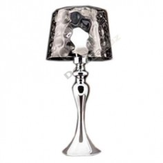 Lámpara sobremesa estilo actual tulipa cristal decorado