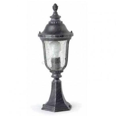 Lámpara sobremuro tono plata envejecida estilo clásico