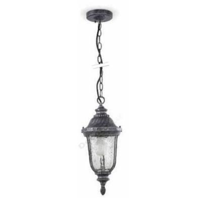 Lámpara colgante exteriores color plata estilo clásico