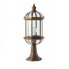 Lámpara sobremuro exterior estilo clásico color envejecido