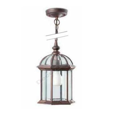 Lámpara colgante estilo clásico especial exteriores color marrón