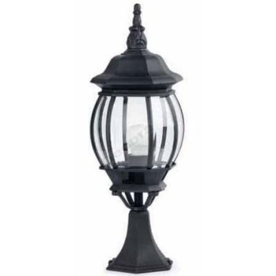 Lámpara sobremuro color negro jardines clásico