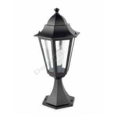 Lámpara sobremuro exteriores color negro fabricado aluminio