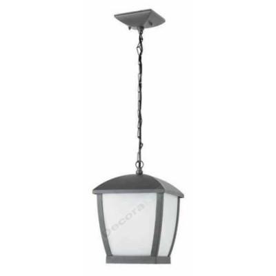 Lámpara para exterior Wilma difusor bicarbonato gris oscuro aluminio