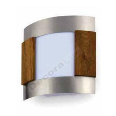 Aplique pared estilo moderno aluminio detalles madera