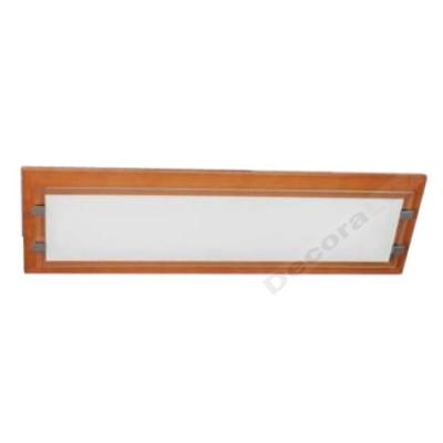 Lámpara flourescente moderno color miel madera cristal