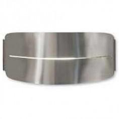 Aplique metal ovalado moderno niquel satinado E27