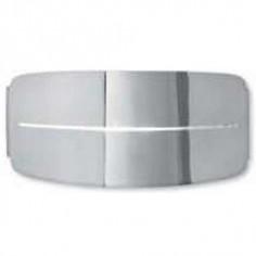 Aplique ovalado moderno metal acabado cromo
