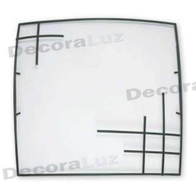 Plafon estilo moderno cristal opaco cuadrado diseño forja