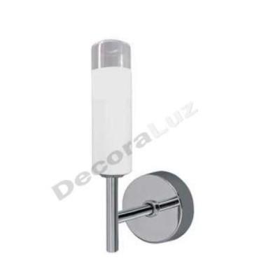 Aplique baño cristal decorado cristal blanco linea moderna