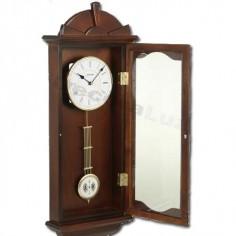 Reloj pared pendulo madera nogal decoracion hogar