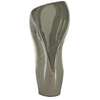 Jarrón fabricado cerámica color plata estilo moderno