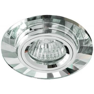Aro de empotrar en espejo redondo cristal transparente