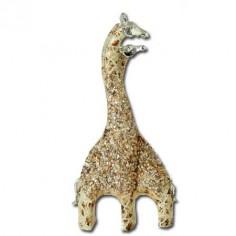 Figura jirafas decorada en tono marfil
