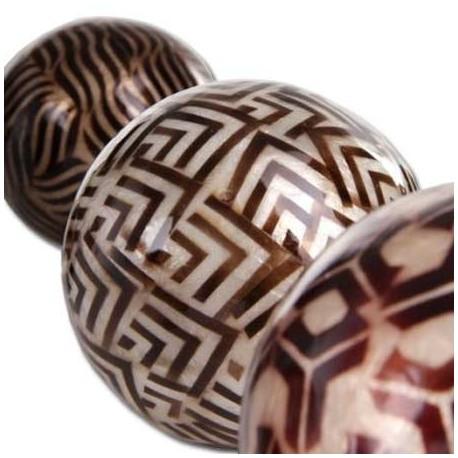 Juego 6 bolas decorativas formas geom tricas color for Bolas de cristal decorativas