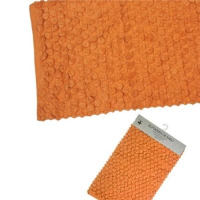 Pareja dos alfombras de baño naranjas 70x45cm