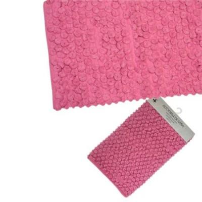 Pareja dos alfombras de baño rosa 70x45cm