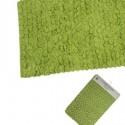 Set dos alfombras de baño verde 70x45cm
