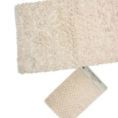 Pareja dos alfombras de baño blanco 70x45cm