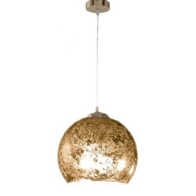 Colgante bola cristal acabado pan de oro