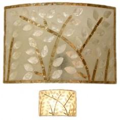 Lámpara aplique de interior fibra y nacar
