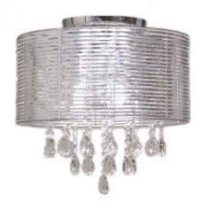 Lámpara techo plateada cristal colección fancy