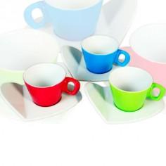 Juego de 6 tazas para té para cocina decoradas en colores
