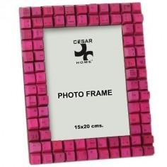 Portafotos teclas ordenador color rosa