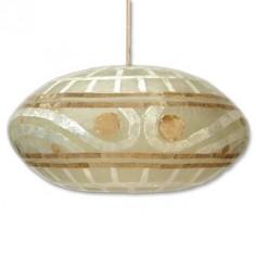 Lámpara colgante de techo fibra y nácar
