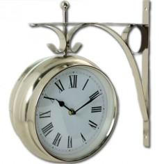 Reloj metálico de pared colgante clásico