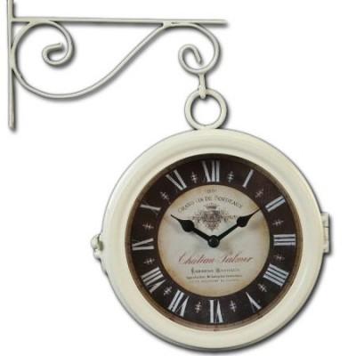 Reloj de pared estación metal color blanco