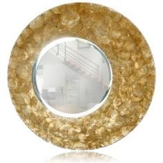 Espejo ovalado en color oro nacarado