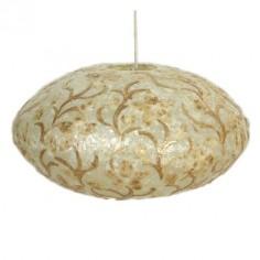 Lámpara de techo colgante fibra y nacar