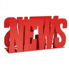 Revistero metálico news color rojo