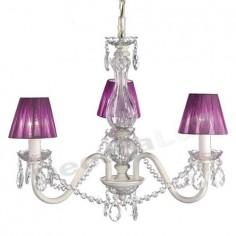Lámpara de techo color blanco pantallas violeta