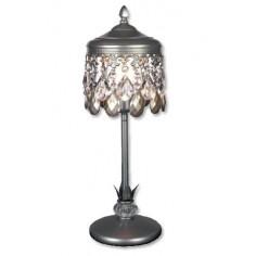 Lámpara sobremesa clásico Demetria acabado en plata envejecida