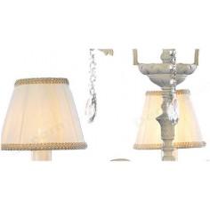 Lámpara de techo Dorinda 3 luces blanca con pantallas clásicas
