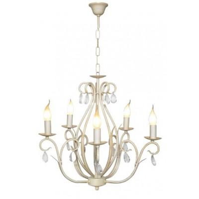 Lámpara artesanal de diseño clásico en color blanco