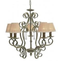 Lámpara elegante Ebano de diseño clásico en plata envejecida