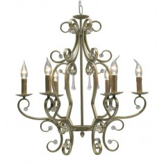 Lámpara clásica de 6 luces, diseño elegante