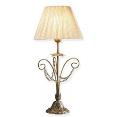Lámpara sobremesa Araña de metal anticuario adornada