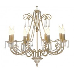 Lámpara Araña grande de techo 8 luces diseño clásico