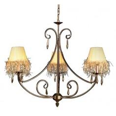 Lámpara de interior acabada en metal envejecido 3 luces