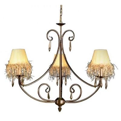 Lámpara de techo metal envejecido 3 luces