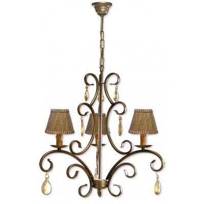 Lámpara de fabricación artesanal, 3 brazos