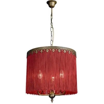 Lámpara de flecos burdeos