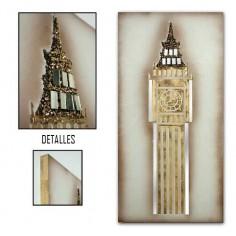 Cuadro del Big Ben en color oro madera