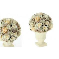 Maceta de flores decorativas para centros de mesa