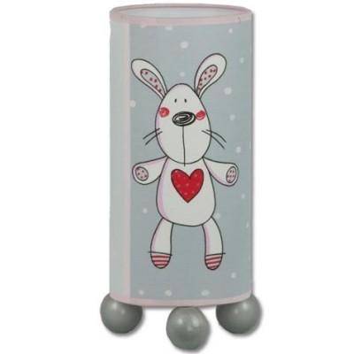 Sobremesa infantil color rosa gris dibujos osos